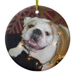 english bulldog christmas ornament zazzle