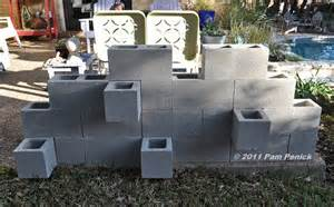 cement block garden on cement concrete blocks