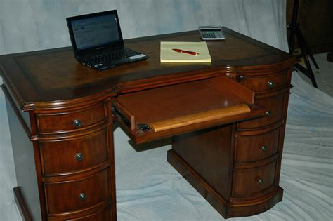 small cherry desk small cherry kneehole desk with file storage leather top
