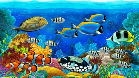 Sea Creatures For Your Computer by Marine Animals Barrier Reef Tropical Colorful Fish
