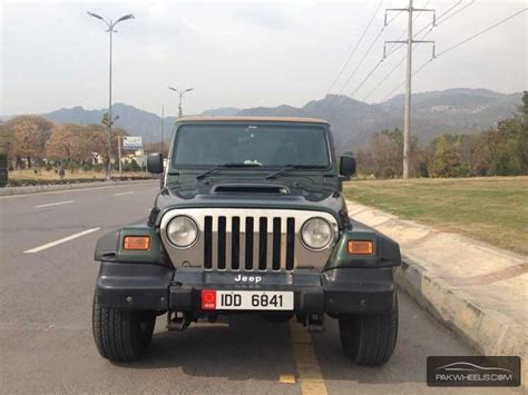 Wrangler Jeep Price In Pakistan Jeep Wrangler 2002 For Sale In Islamabad Pakwheels