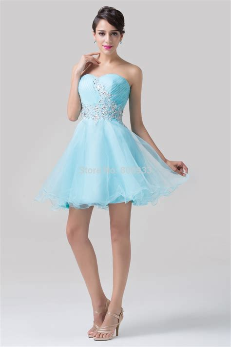 Short Light Blue Dress by Light Blue Short Prom Dresses Cocktail Dresses 2016