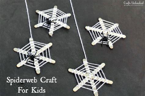 spider crafts crafts for craft stick spiderwebs