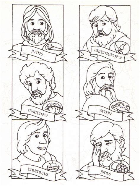 Mountain Of Grace Homeschooling The Twelve Apostles Lesson Jesus And Disciples Coloring Page