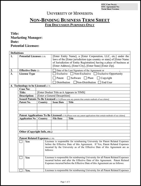 Term Sheet Template For Joint Venture by Choose From 9 Term Sheet Templates