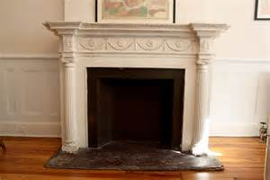 vintage faux fireplace and mantle white
