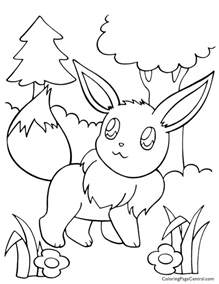 pokemon eevee coloring 01 coloring central