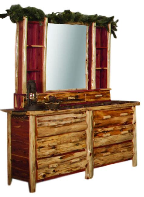 rustic white dresser with mirror rustic red cedar log dresser hutch with mirror rustic