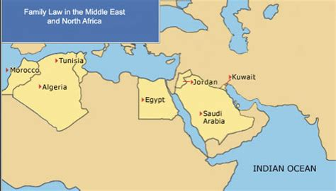 middle east highlighted map family in the middle east and africa map