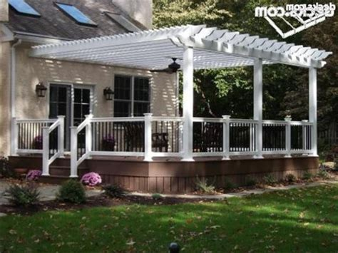 vinyl pergolas attached to house this white vinyl pergola