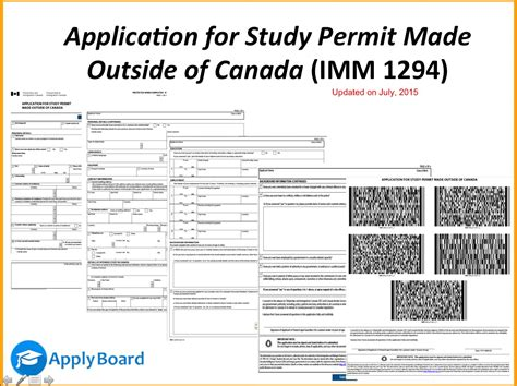 how to fill application form for a study permit made