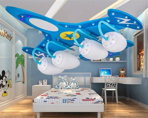 airplane theme ceiling light deco led bedroom playroom new