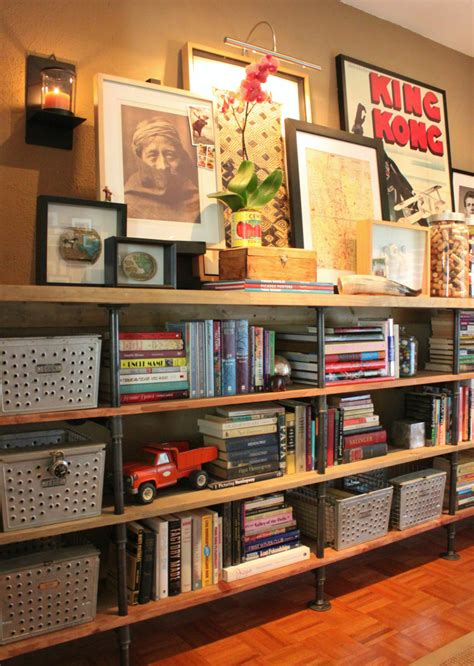 diy plans  build  pipe bookshelf guide patterns