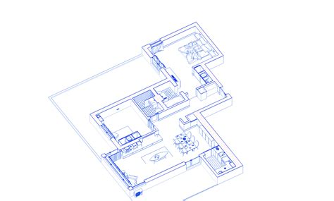 layout d animation apartment 07 3d animated layout
