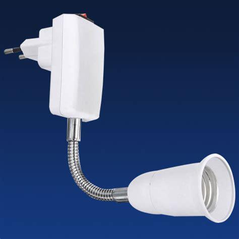 Adapter Ekstensi Bohlam E27 Eu 20cm e27 light bulb l holder extension adapter converter socket eu ebay