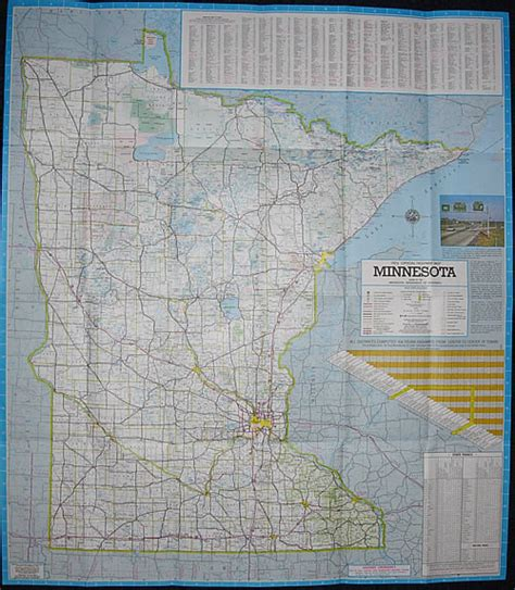 Route Drawer Map by 1974 Official Highway Map Minnesota