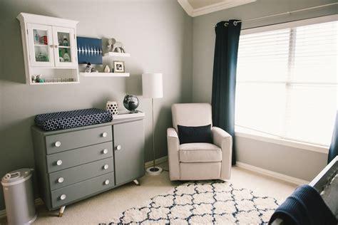Modern Grey White Navy Baby Boy Nursery Grayson Daniel Grey And White Nursery Decor