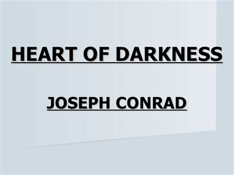 theme of heart of darkness slideshare marlow s journey into his sub conscious