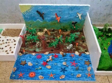 trabajo de maquetas de costas maquetas escolares relieve maqueta de un ecosistema imagui maquetas pinterest