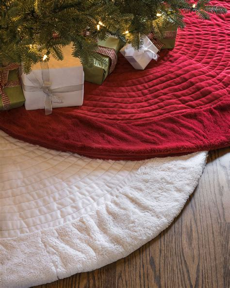 berkshire quilted tree skirt balsam hill