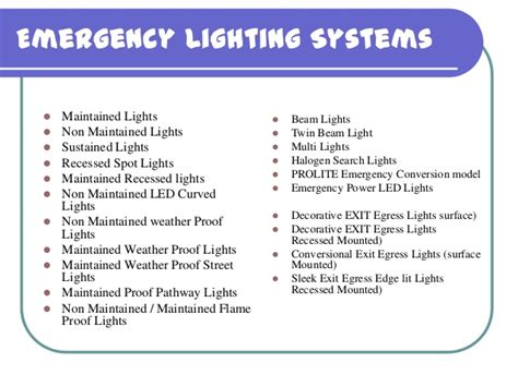 Prolite Autoglo LTD. Emergency Lighting System