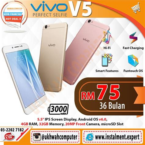 Handphone Vivo V5 Second vivo v5 32gb harga ansuran instalmen end 3 13 2017 4 15 pm