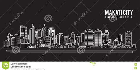 layout artist hiring makati cityscape building line art vector illustration design