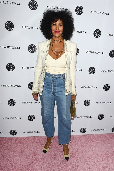 tracee ellis ross line tracee ellis ross in chanel and vetements at the beautycon