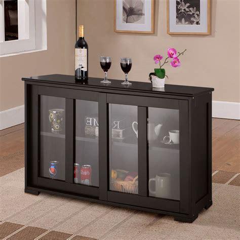 Glass Buffet Cabinet by Storage Cabinet Sideboard Buffet Cupboard Glass Sliding