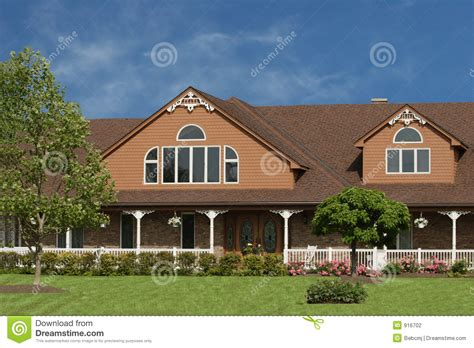 large brown house stock photography image 916702