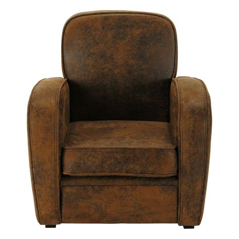 childs armchair microsuede child s armchair in brown arizona maisons du