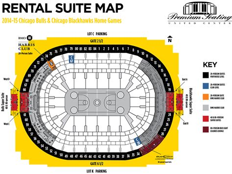 united center chicago map day of event rental suites premium seating services