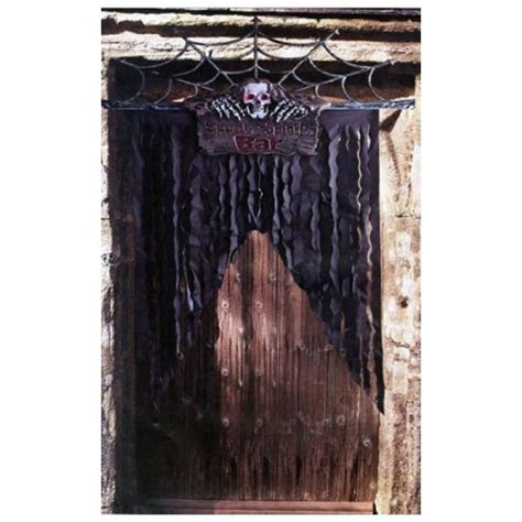 Bar Rideau by D 233 Coration De Porte Avec Squelette Quot Spooky Spirits Bar