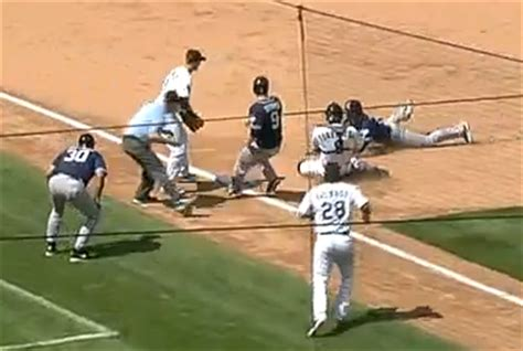 Re Runners Third rockies catcher tags two runners out on same play at