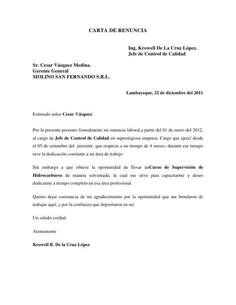 formato de renuncia voluntaria 2015 mxico carta de renuncia