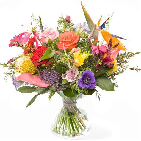 mooie bos bloemen bezorgen stralend boeket bloemen bezorgen rotterdam