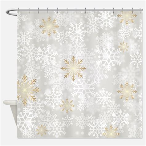 snowflake shower curtain winter snowflake shower curtains winter snowflake fabric