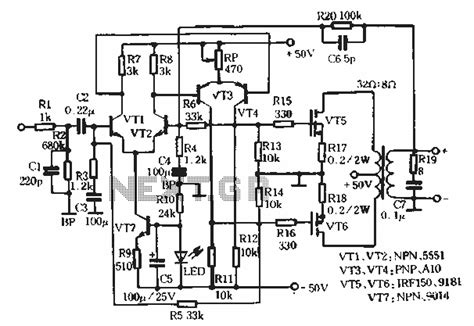 40w audio output transformer wiring diagram diagrams