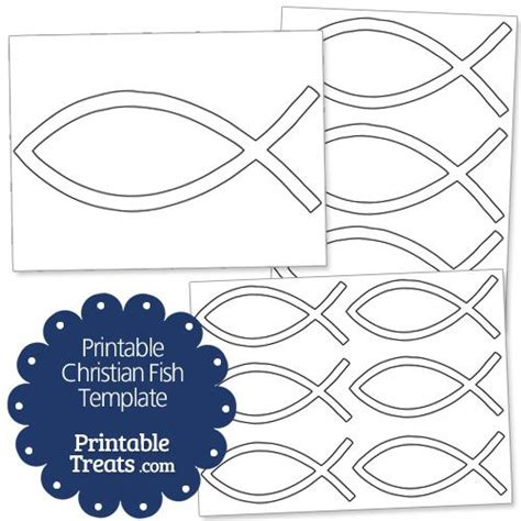 printable christian fish template psr pinterest