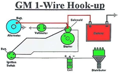 delco 1 wire alternator wiring diagram diagrams free
