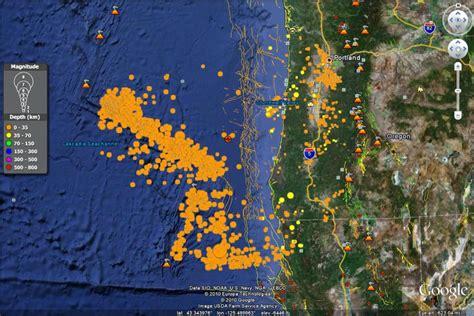 earthquake oregon gorda ridge earthquakes oregon coast