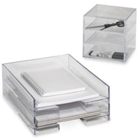 Acrylic Desk Accessories Desktop Organizers Pen Holders Magazine Holders The Container