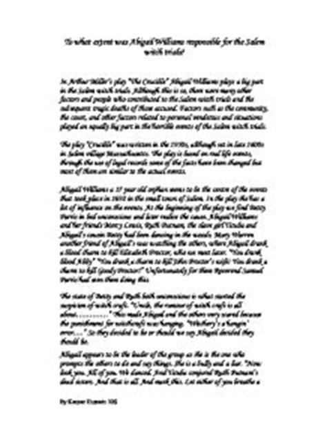 Salem Witch Trials Essay by Salem Witchcraft Trials 1692 Essay