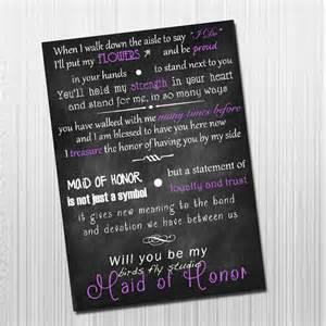 Will You Be My Bridesmaid Poem Diy Printable Will You Be My Maid Of Honor Card Maid Of