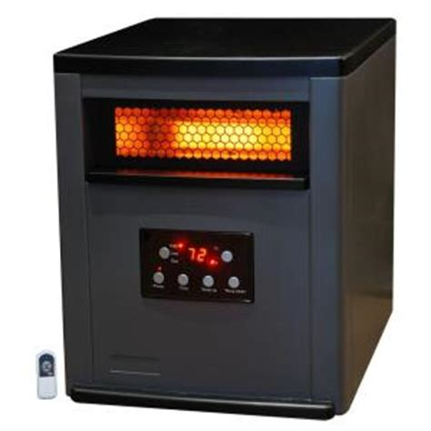 large room heater pro series 1500 watt large room 6 element infrared heater with metal cabinet and remote ls