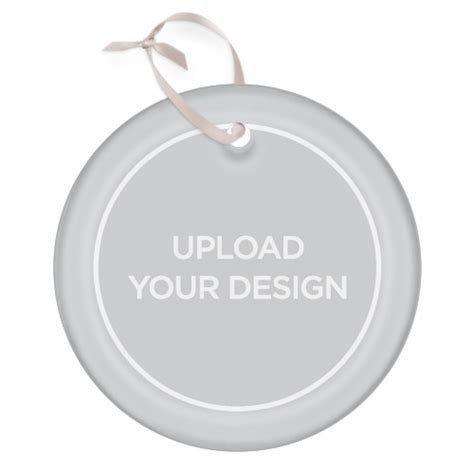 upload your own design circle glass ornament christmas