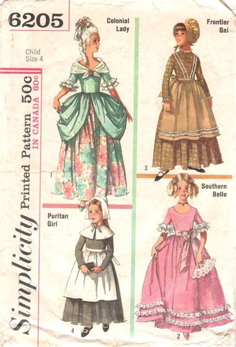patterns sewing historical girl s historical dress colonial puritan southern belle