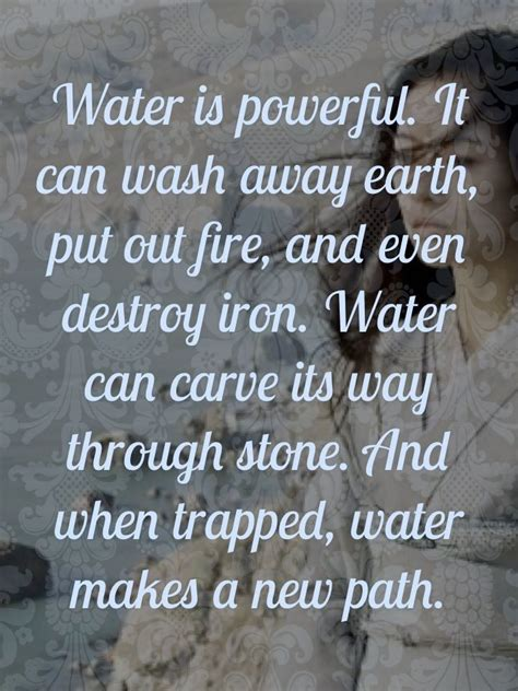 rock and water the power of thought the peace of letting go water quotes and sayings quotesgram