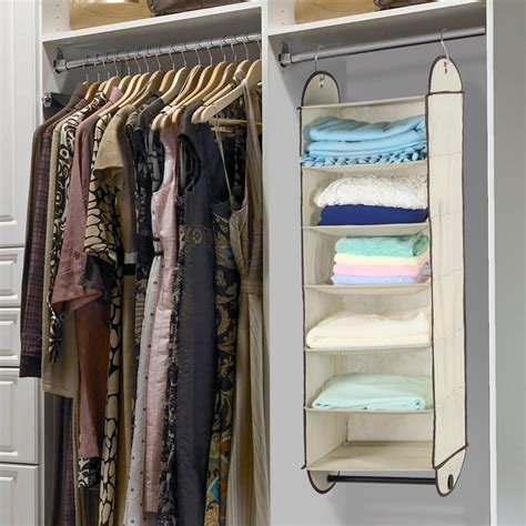 Closet Clothing Co by Foldable 6 Shelf Fabric Hanging Closet Organizer Storage Wardrobe Hanger Shelves Ebay