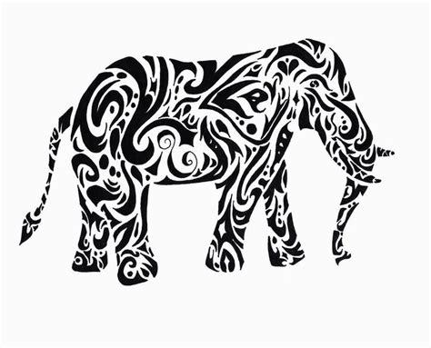 tribal tattoos elephant tribal elephant ink me